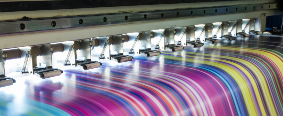 Printer printing a variety of colors