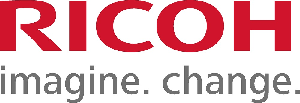 Ricoh logo with tagline Imagine Change