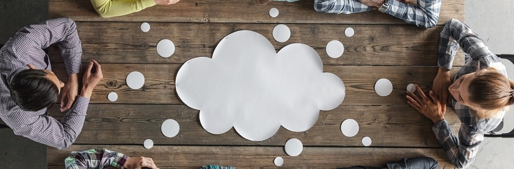 A cloud on a table top